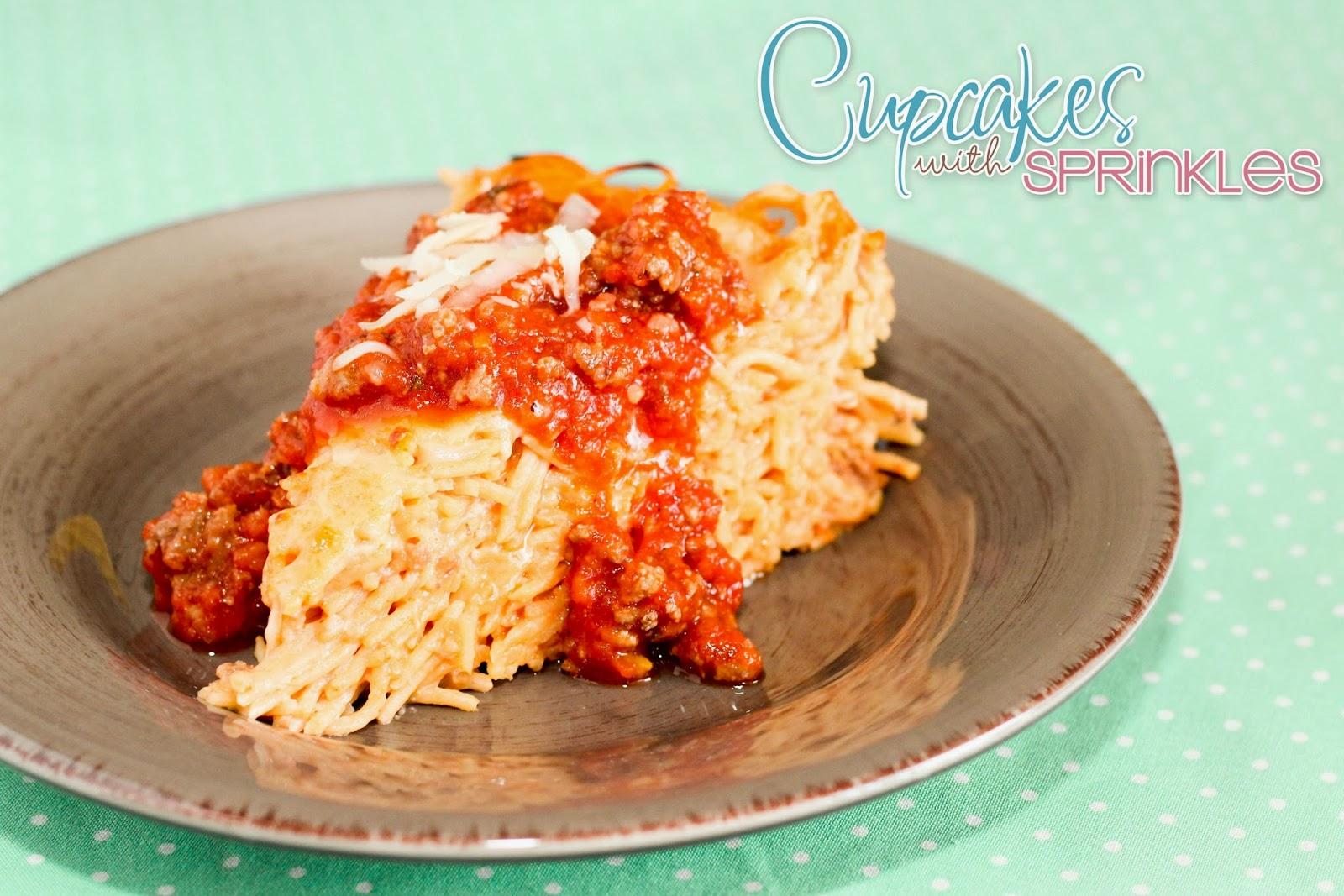 Cupcake With Sprinkles Spaghetti Pie