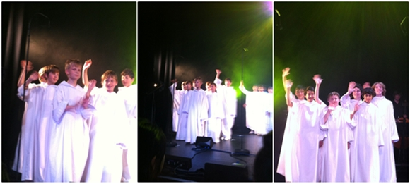 Libera boys after concert in Jersey, Channel Islands.