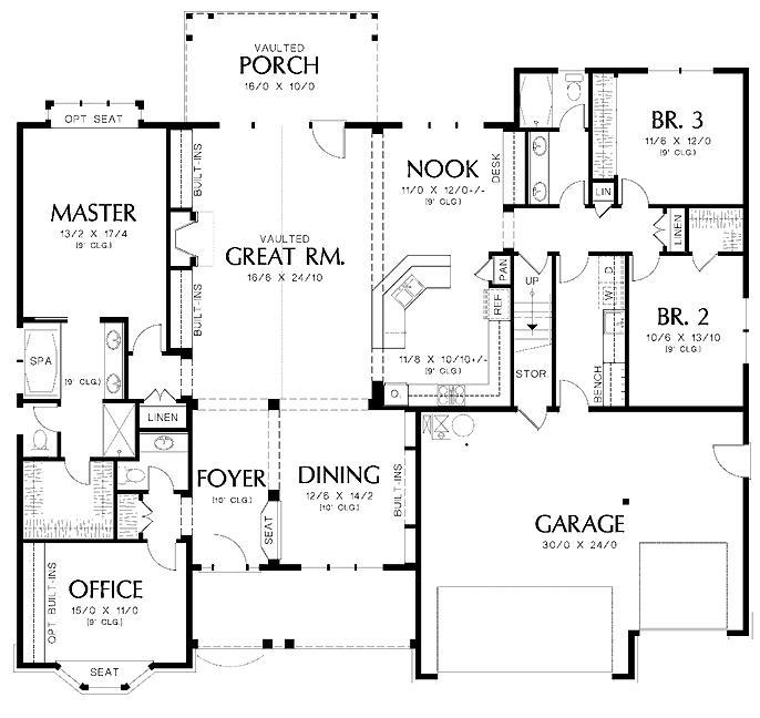 Planos de casas modelos y dise os de casas planos de for Planos de oficinas modernas