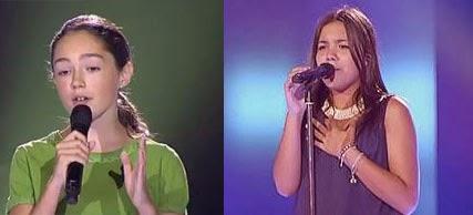 Pilar Bogado y María Parrado directo a la final La Voz Kids