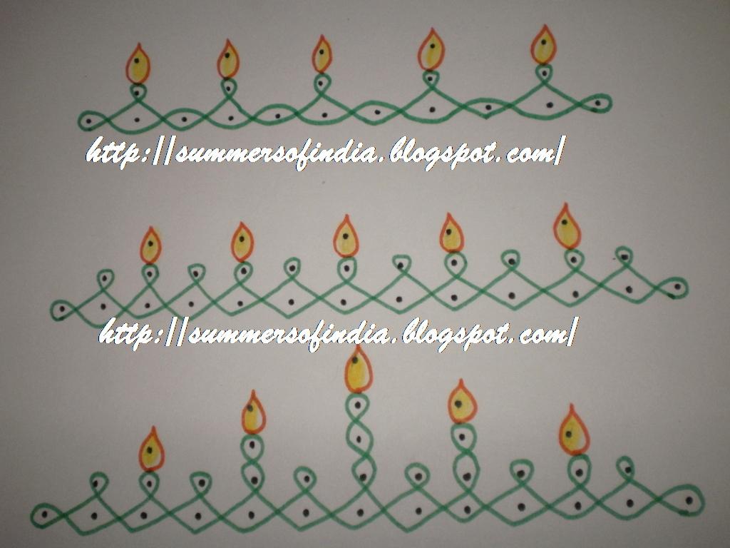 Summersofindia rangoli 136 borders 15 for Door entrance rangoli designs