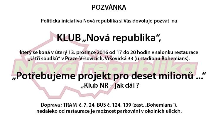 Klub 13. 12. 2016
