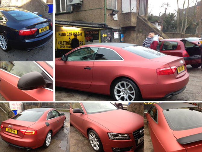 Red Aluminium by Wrapping Cars UK  Car Wrap London  Wrapping Cars