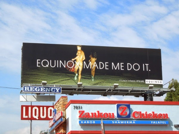 Equinox Made me do it running naked billboard