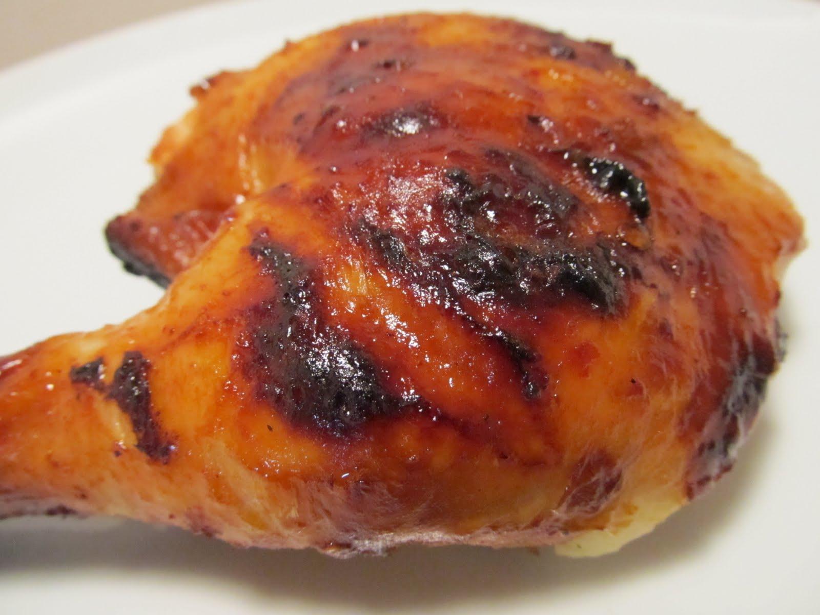 Grilled Chicken with Orange Chipotle Glaze