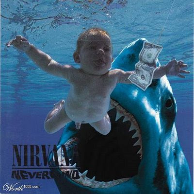 a shark in the nirvana nevermind album
