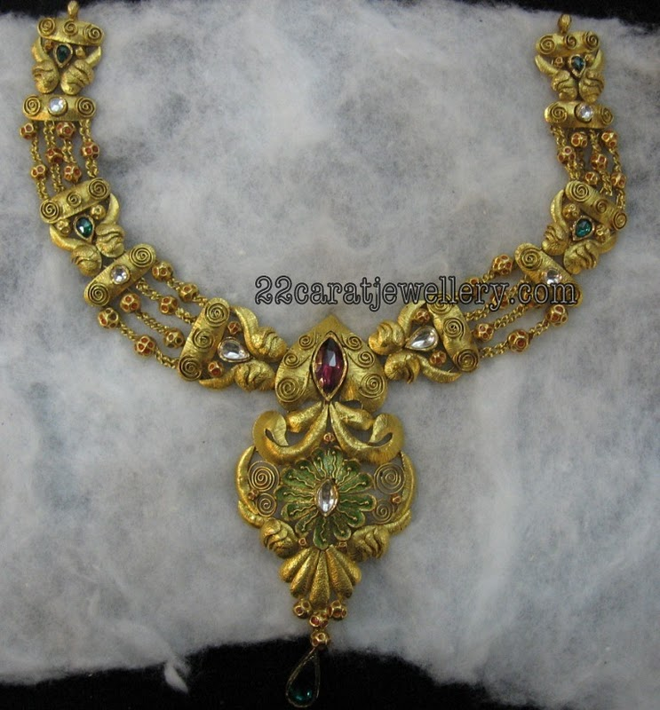 22 Carat Indian Gold Bridal Jewellery Designs(Traditional