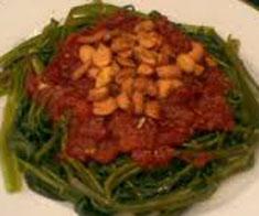 Resep masakan indonesia plecing kangkung spesial (istimewa) praktis mudah sedap, gurih,  enak, nikmat lezat