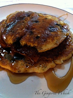 The Gingered Whisk: Blueberry Cornmeal Pancakes