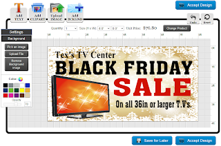 Black Friday Banner Template in the Online Designer