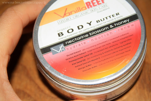 vanilla reef nectarine blossom honey body butter