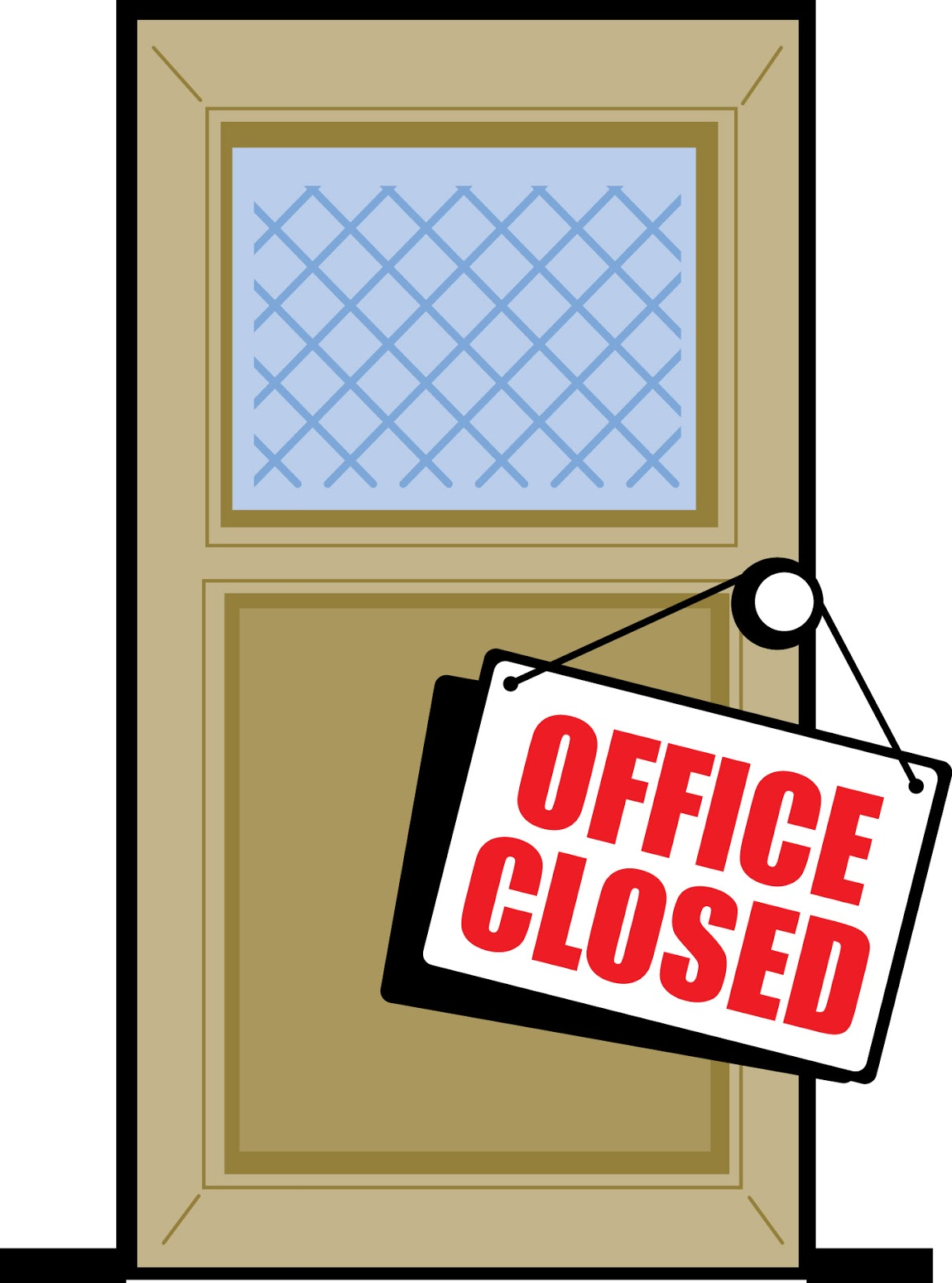 office closed sign template free