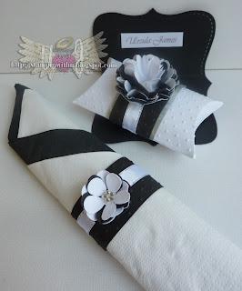 Black n White Wedding Table Setting