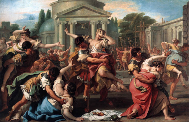 an analysis of the rape of the sabine women by nicolas poussin Rape of the daughters of leucippus by rubens (1618): • analysis of the rape of the daughters of leucippus • abduction of the sabine women (1634-5) by nicolas poussin metropolitan museum of art, new york.