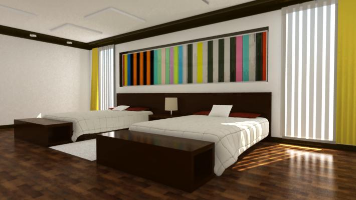 Arnam designer habitaci n 3d iluminaci n - Iluminacion habitacion ...