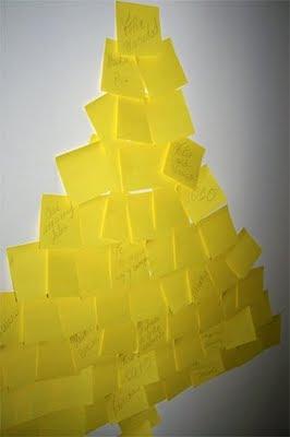 Cómo hacer árbol de navidad con post its