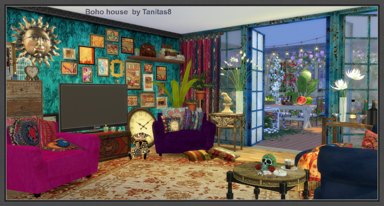 my sims 4 blog boho house by tanitas8