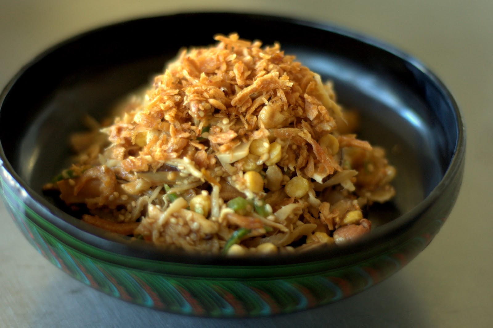 Jinn thoke burmese ginger salad recipe my favorite burmese salad is jinn thoke a surprisingly quick and easy ginger based salad thats absolutely delicious and refreshing even for someone like forumfinder Gallery