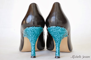 glitter covered heels