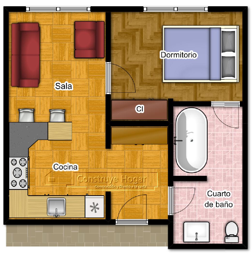 Baño En Dormitorio Pequeno: de Dormitorios: Todos los estilos: Planos de dormitorios de