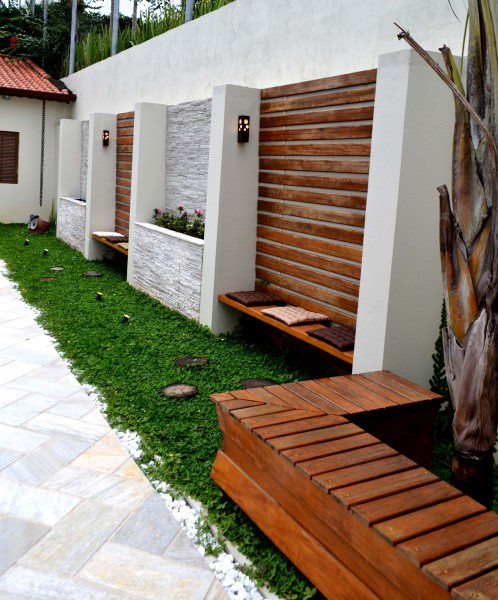 decoracao muros jardim: – Decoração: Ideias para muros de jardim (anti-fugas de gatos