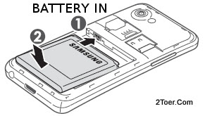 Assemble Battery Insert Samsung Galaxy S Advance GT I9070
