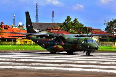 CN-295 TNI-AU. PROKIMAL ONLINE Kotabumi Lampung Utara