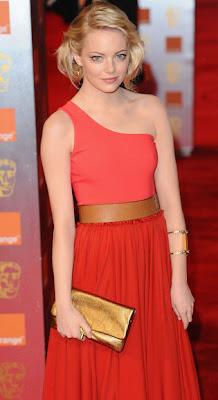 Emma Stone Gold Hoop Earrings