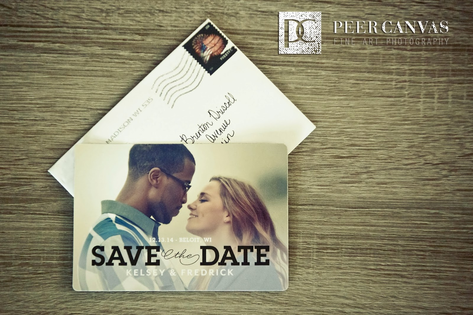 Save The Dates by Wedding Paper Divas Peer Canvas Wedding