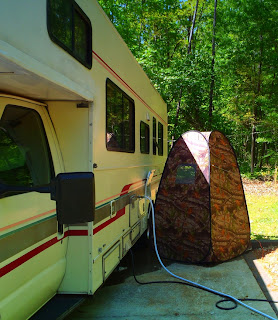 portable outdoor shower for RV by dear miss mermaid