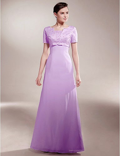 Vestido Madrina Lila de Satén
