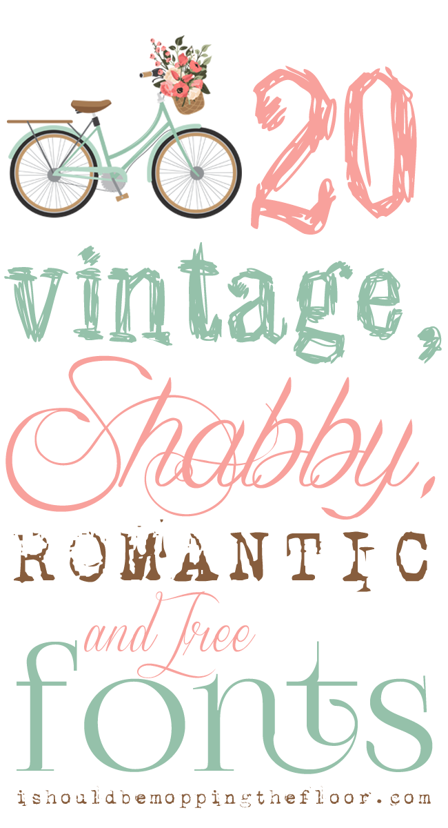 Free, Vintage, Shabby, and Romantic Fonts | Instant Download Links