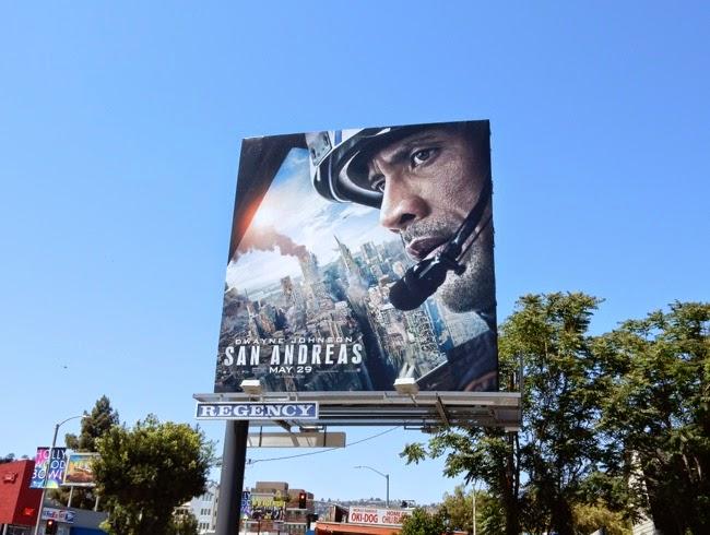 Dwayne Johnson San Andreas billboard