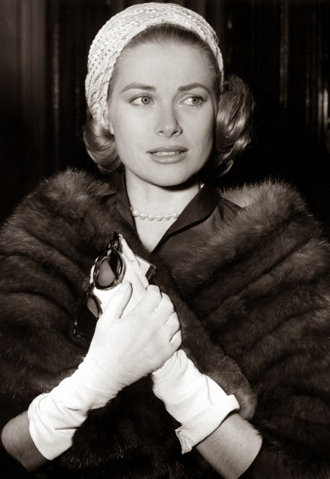 fur stole - princess grace kelly of monaco style icon