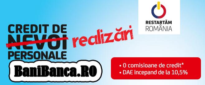 UniCredit Tiriac Bank – Creditul de realizari personale fara ipoteca [Rapid, Online]