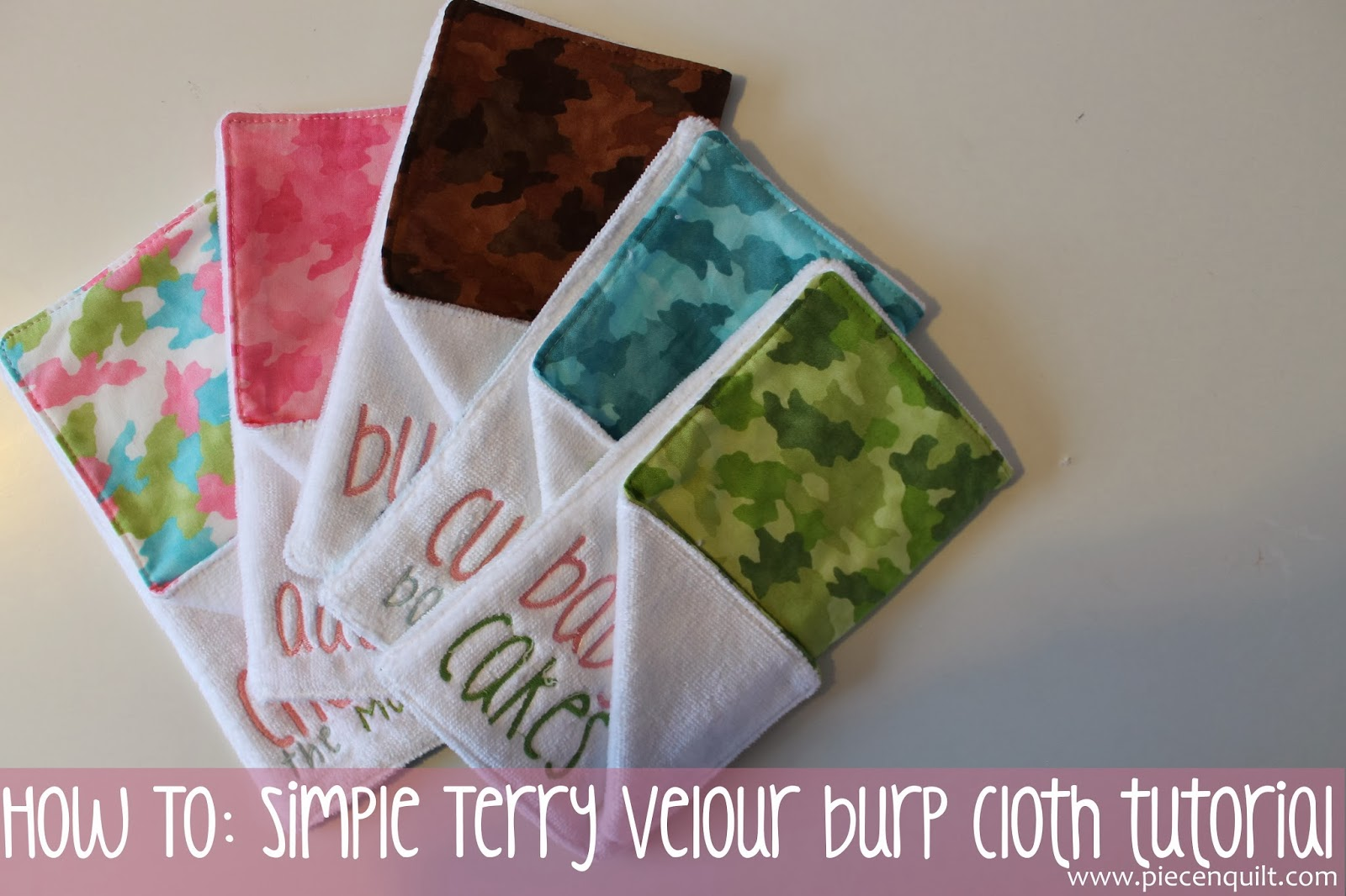 Piece n quilt how to simple terry velour burp cloth tutorial how to simple terry velour burp cloth tutorial baditri Image collections
