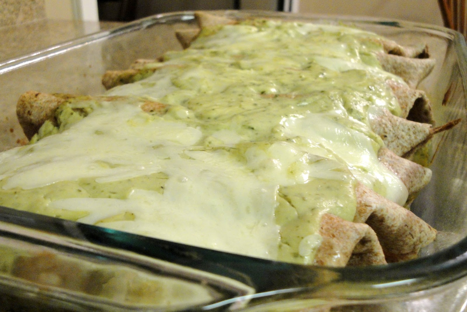 Chicken and Avocado Enchiladas - The Cookin' Chemist