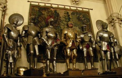 Many say that these suits of armor take on a life of their own at Belmont Castle in Newport, Rhode Island