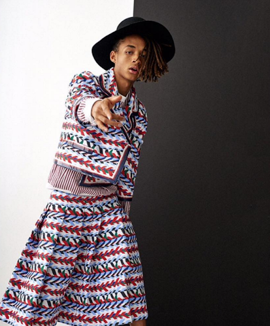Louis Vuitton Jaden Smith tweets instagram net worth fashion gender Vogue Korea kylie jenner