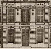 Gravure de Jean Marot de la façade avec balcon de l'hôtel d'Aumont