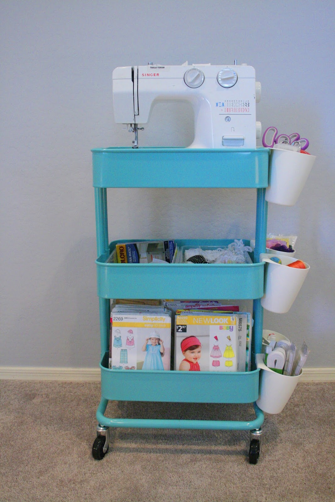 Chilly Cactus Crafts Create A Sewing Cart With Ikea 39 S