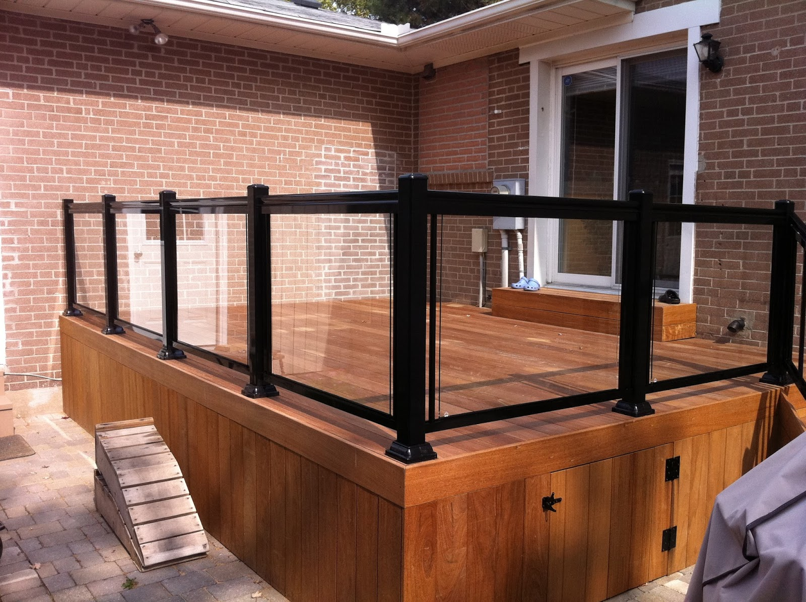 Glass railings for decks - New Glass Railings On Deck In Scarborough Style Gr1