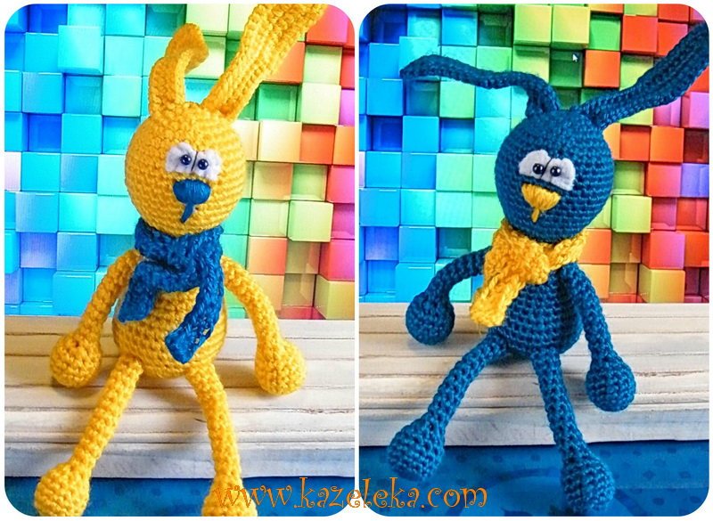 crochet rabbit - вязаные зайцы