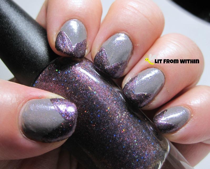 Black Dahlia Flor de Muerto, a purple glitter