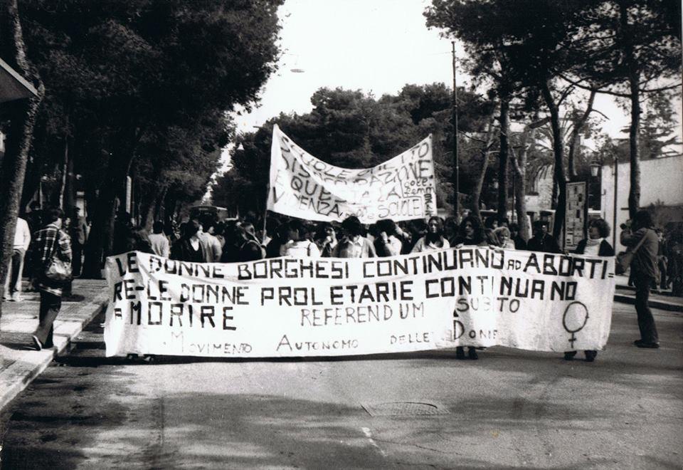 Eccolo qui, il movimento femminista leccese: erano gli anni '70