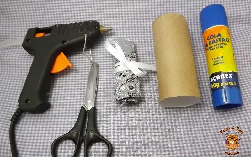 faça você mesmo reciclagem porta bijuteria rolo papel higiênico presente balaio de tigre