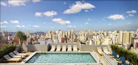 apartamento com piscina no centro república metrô