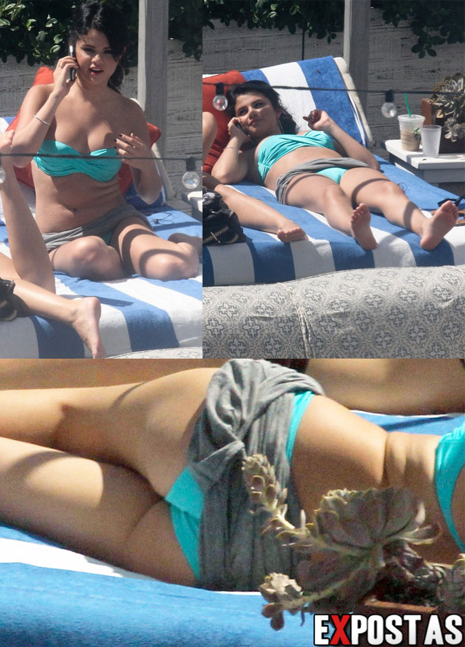 Selena Gomez de biquíni em piscina de hotel em Miami - 17 de Setembro de 2012