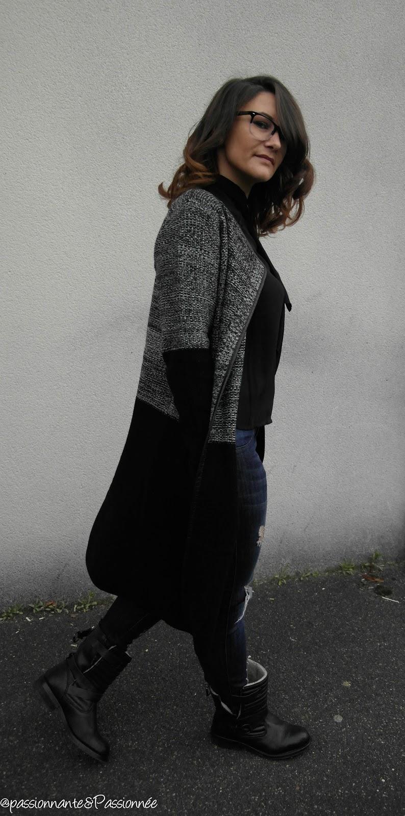 manteau laine bi couleur babou
