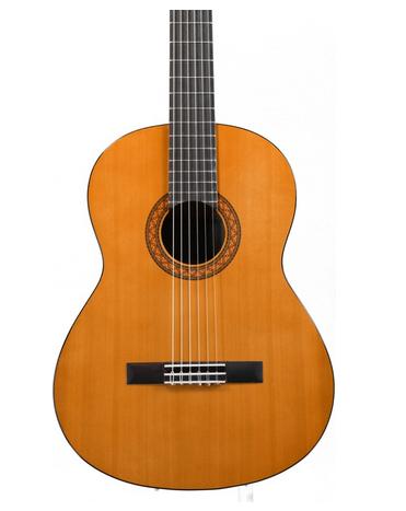 Bagian body gitar klasik Yamaha C40 ilustrasi untuk harga gitar